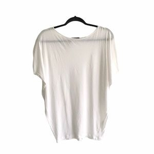 VINCE Oversized White Cocoon T-Shirt S